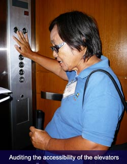 Auditing the accessibility of the elevator