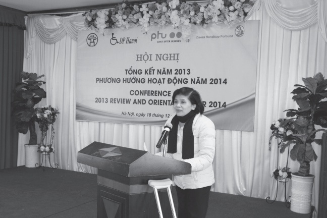 Mrs. Phan Bich Diep - Vice Chairwoman of DP Hanoi spoke at the conference